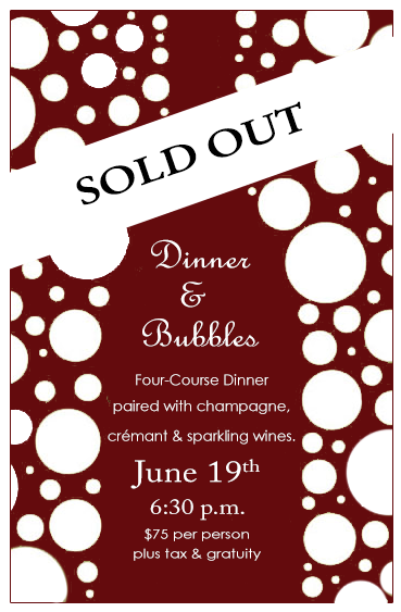 Champagne Dinner Sold Out