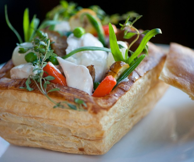 Pot Pie in Puff Pastry